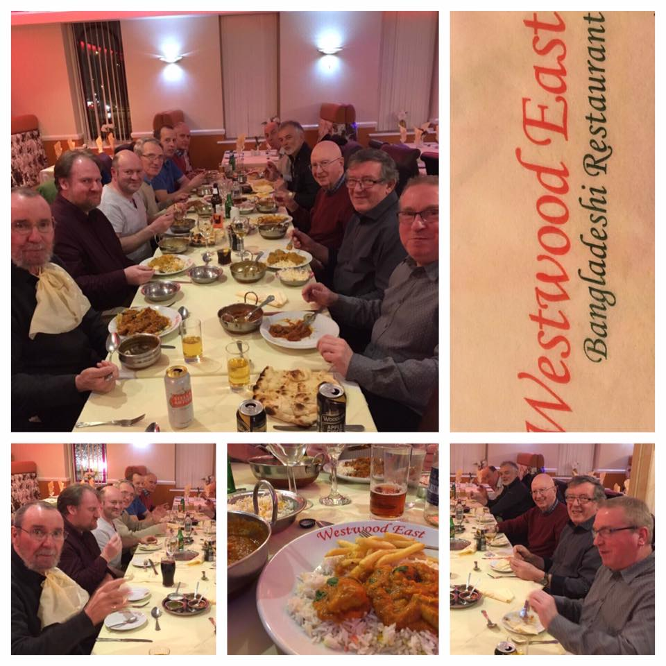 Mens Meet-up for Curry at Westwood East 19th February 2019
