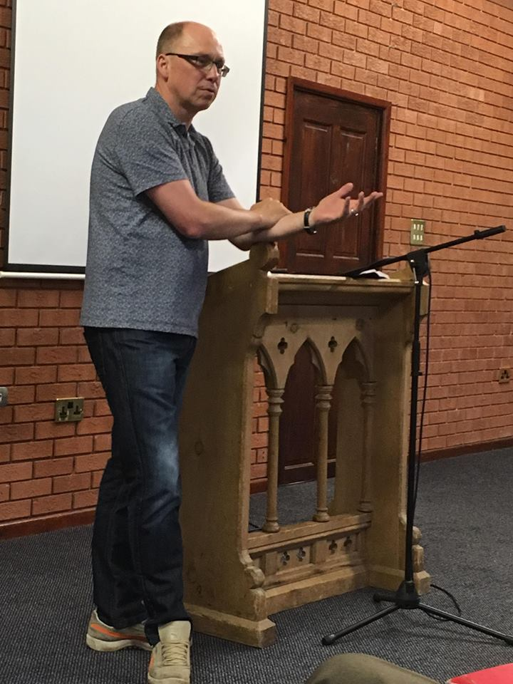 Newbold Baptist Church Andy relating his missions experience 17th June 2018