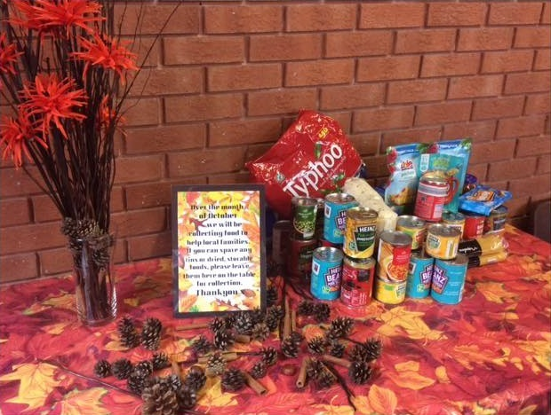 October Food Collection at Newbold Baptist Church