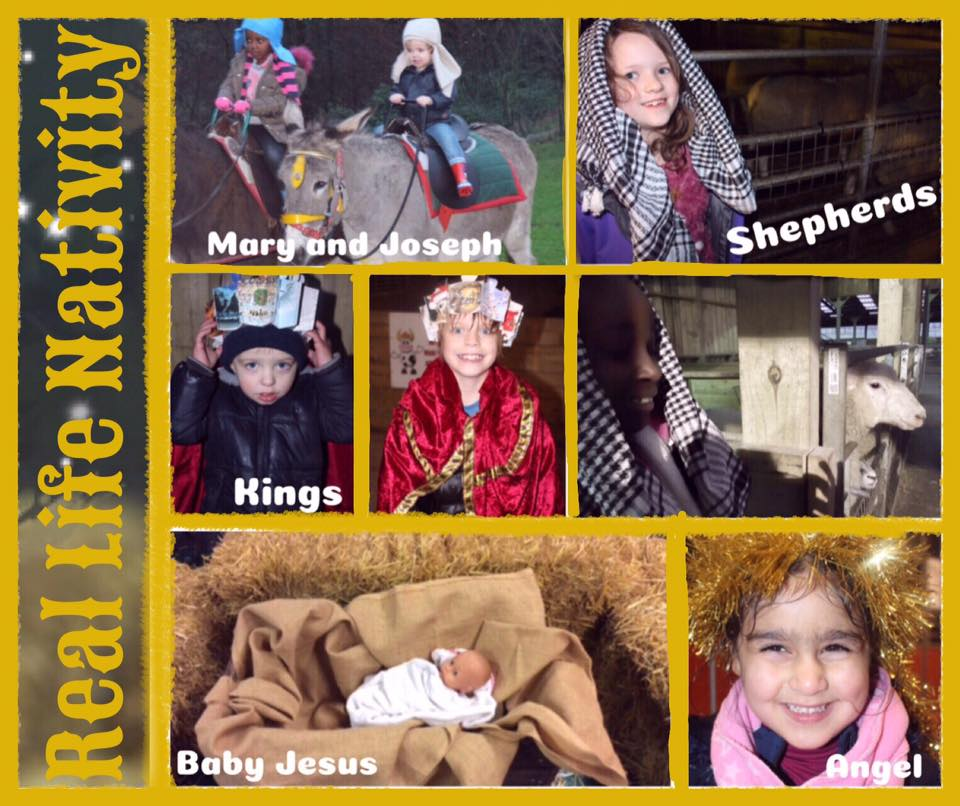 Real Life Nativity at Smithills Open Farm, Bolton - Dec 2018